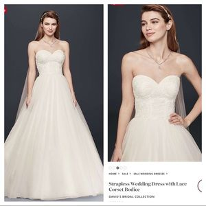 David's Bridal NWOT Corset gown